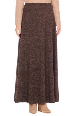 Юбка макси ALINA ASSI. Цвет: темно-коричневый