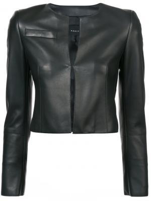 Укороченная приталенная куртка Akris. Цвет: чёрный