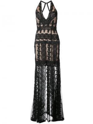 Платье с V-образным вырезом Nicole Miller. Цвет: чёрный