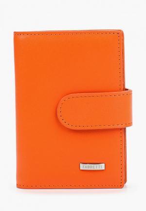 Визитница Fabretti. Цвет: оранжевый