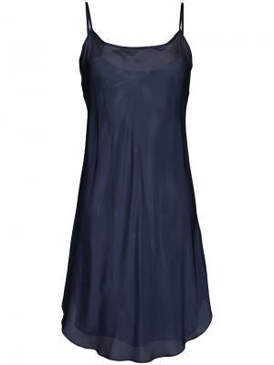Полупрозрачная ночная сорочка Lee Mathews. Цвет: синий
