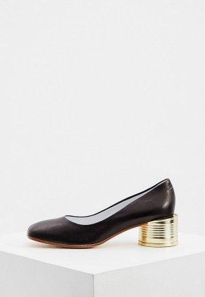 Туфли MM6 Maison Margiela. Цвет: черный
