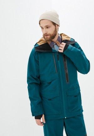 Куртка сноубордическая Billabong. Цвет: бирюзовый