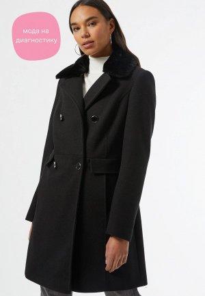 Пальто Dorothy Perkins. Цвет: черный