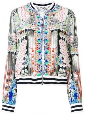 Куртка-бомбер с абстрактным принтом Camilla. Цвет: многоцветный