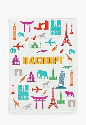 Обложка для паспорта Kawaii Factory. Цвет: белый