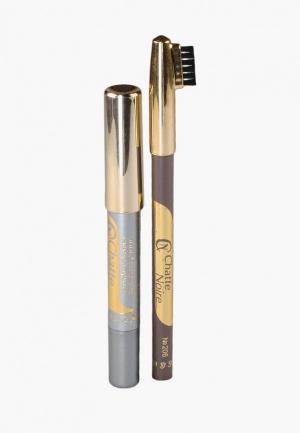 Набор для макияжа бровей Chatte Noire. Цвет: разноцветный