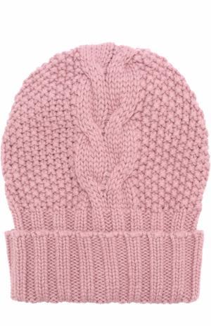 Шапка фактурной вязки из кашемира Kashja` Cashmere. Цвет: розовый