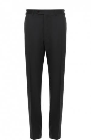 Классические шерстяные брюки Canali. Цвет: темно-коричневый