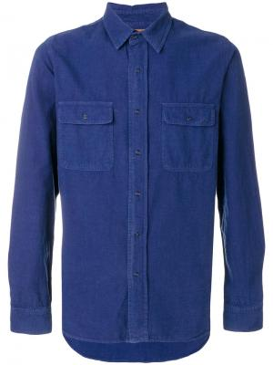 Рубашка с нагрудными карманами Kris Van Assche. Цвет: синий