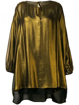 Металлизированная блузка свободного кроя Mes Demoiselles. Цвет: металлический