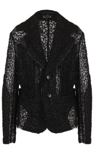 Кружевной жакет с карманами Comme des Garcons. Цвет: черный
