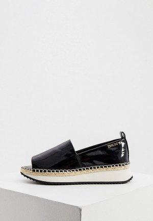 Туфли DKNY. Цвет: черный