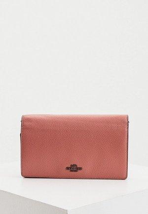 Клатч Coach. Цвет: розовый