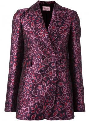 Jacquard floral detail blazer Lanvin. Цвет: розовый и фиолетовый