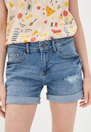 Шорты джинсовые Jacqueline de Yong. Цвет: голубой