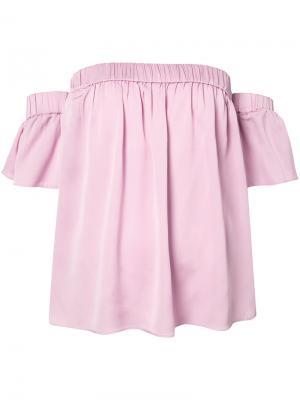 Блузка с заниженной линией плеч Milly. Цвет: розовый и фиолетовый