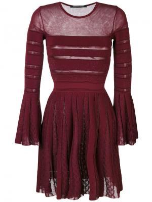 Полупрозрачное платье со складками Antonino Valenti. Цвет: розовый и фиолетовый