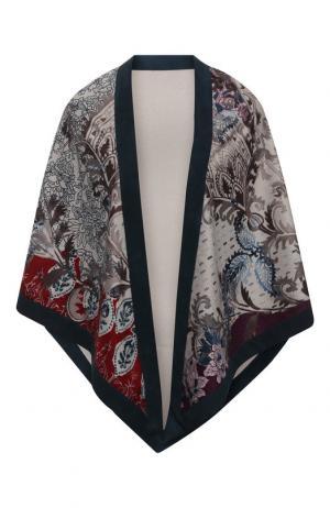 Кашемировая шаль с принтом Loro Piana. Цвет: синий