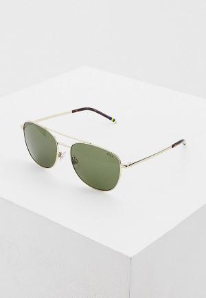 Очки солнцезащитные Polo Ralph Lauren. Цвет: золотой