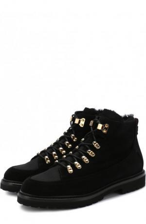 Замшевые ботинки с внутренней меховой отделкой Bally. Цвет: черный
