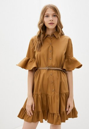 Платье Imperial. Цвет: коричневый