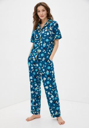 Пижама Rene Santi. Цвет: синий