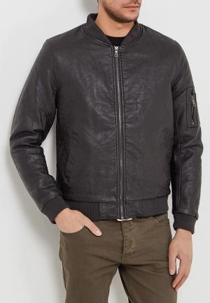 Куртка кожаная Forex. Цвет: коричневый