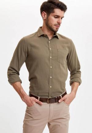 Рубашка DeFacto. Цвет: хаки