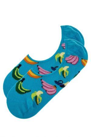 Носки HAPPY SOCKS. Цвет: голубой