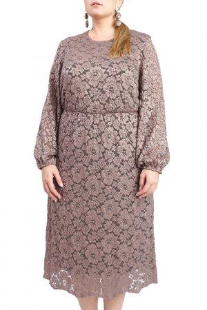 Платье LACY. Цвет: коричневый