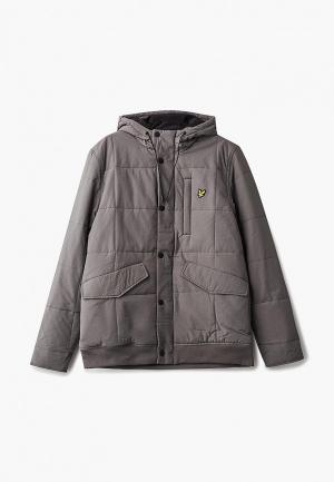Куртка утепленная Lyle & Scott. Цвет: серый