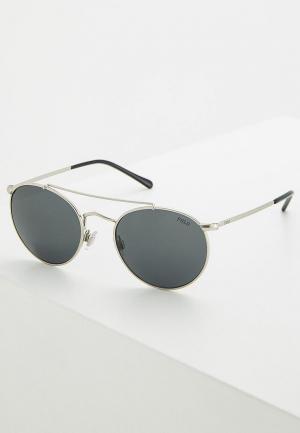 Очки солнцезащитные Polo Ralph Lauren. Цвет: серебряный