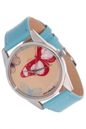 Часы Бабочки MITYA VESELKOV. Цвет: голубой