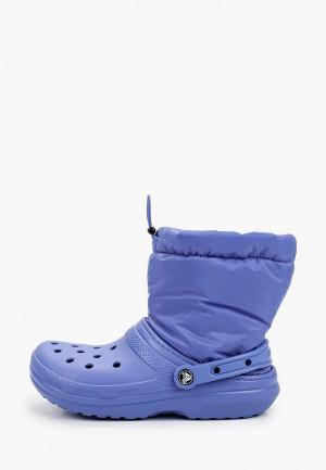 Резиновые сапоги Crocs. Цвет: фиолетовый