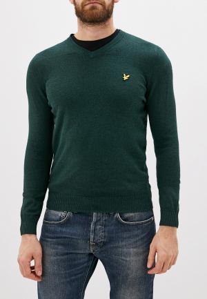 Пуловер Lyle & Scott. Цвет: зеленый