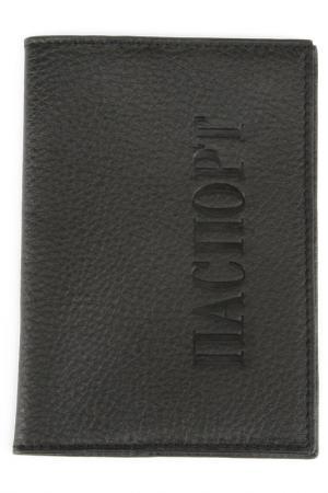 Обложка для паспорта PELLECON. Цвет: черный
