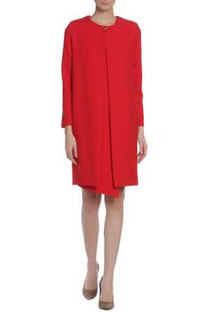 Костюм: тренч, платье Adzhedo. Цвет: красный