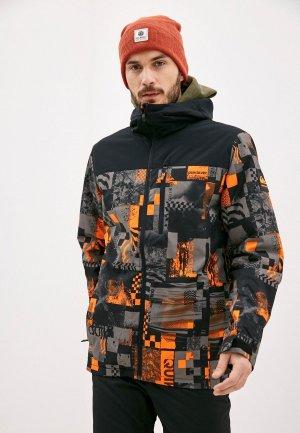 Куртка сноубордическая Quiksilver. Цвет: разноцветный