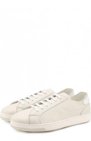 Кожаные кеды на шнуровке Doucals Doucal's. Цвет: белый
