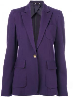 Классический приталенный пиджак Les Copains. Цвет: розовый и фиолетовый