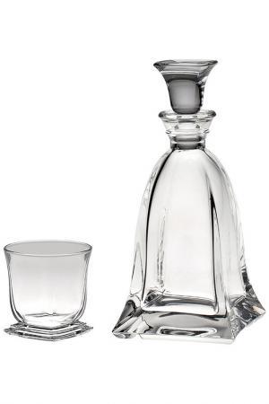 Набор для виски 7 шт. CRYSTAL BOHEMIA. Цвет: прозрачный