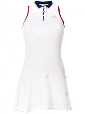 Теннисное платье Adidas. Цвет: белый
