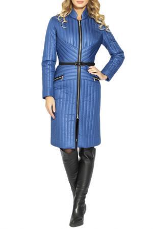 Пальто CLEVER woman studio. Цвет: синий