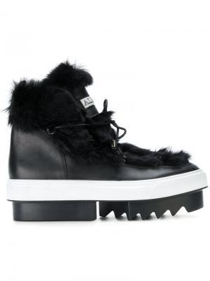 Ботинки на платформе Albano. Цвет: чёрный
