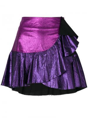 Юбка Jodie  с оборками 8pm. Цвет: розовый и фиолетовый