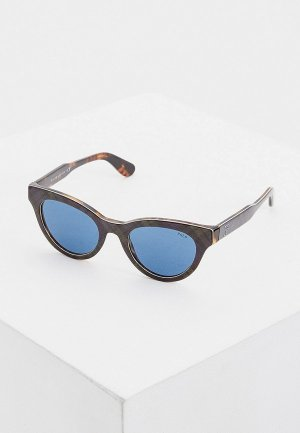 Очки солнцезащитные Polo Ralph Lauren. Цвет: зеленый