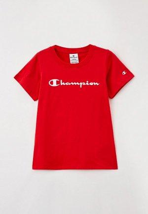 Футболка Champion. Цвет: красный