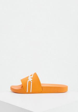 Сланцы Michael Kors. Цвет: оранжевый
