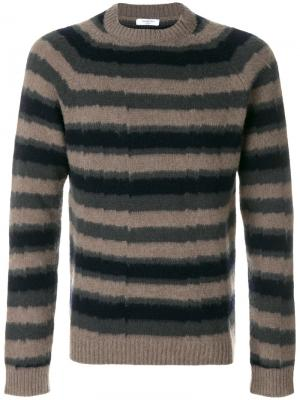 Полосатый пуловер Boglioli. Цвет: коричневый